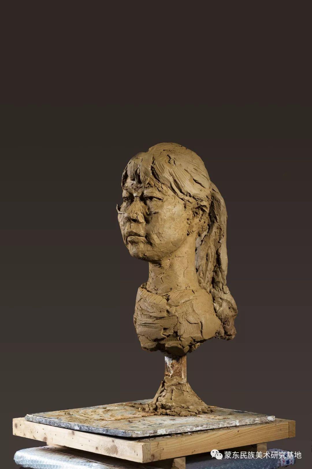 包格日乐吐作品——头像雕塑系列(一) 第9张 包格日乐吐作品——头像雕塑系列(一) 蒙古画廊