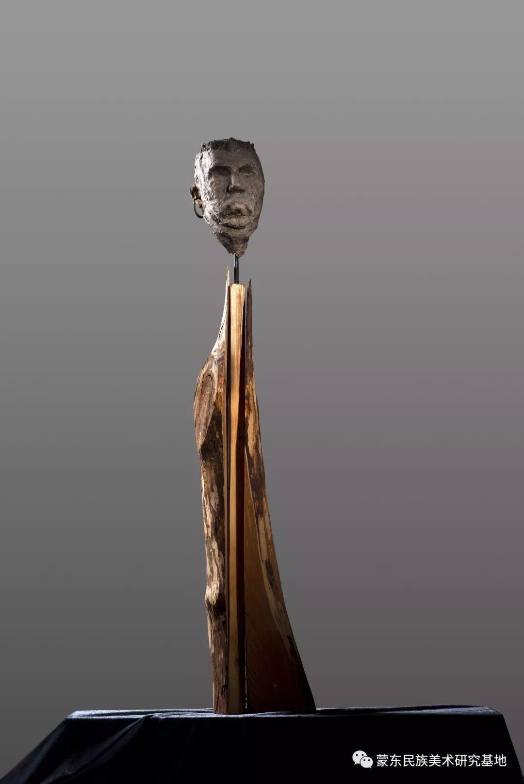 包格日乐吐作品——头像雕塑系列(二) 第5张 包格日乐吐作品——头像雕塑系列(二) 蒙古画廊