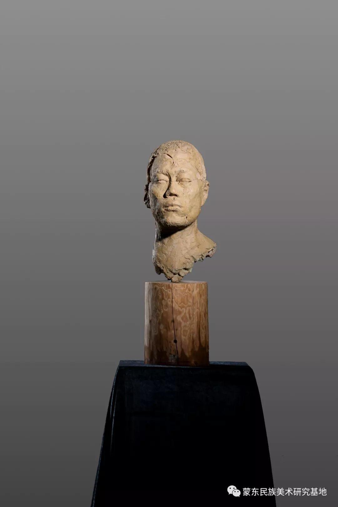 包格日乐吐作品——头像雕塑系列(二) 第3张 包格日乐吐作品——头像雕塑系列(二) 蒙古画廊