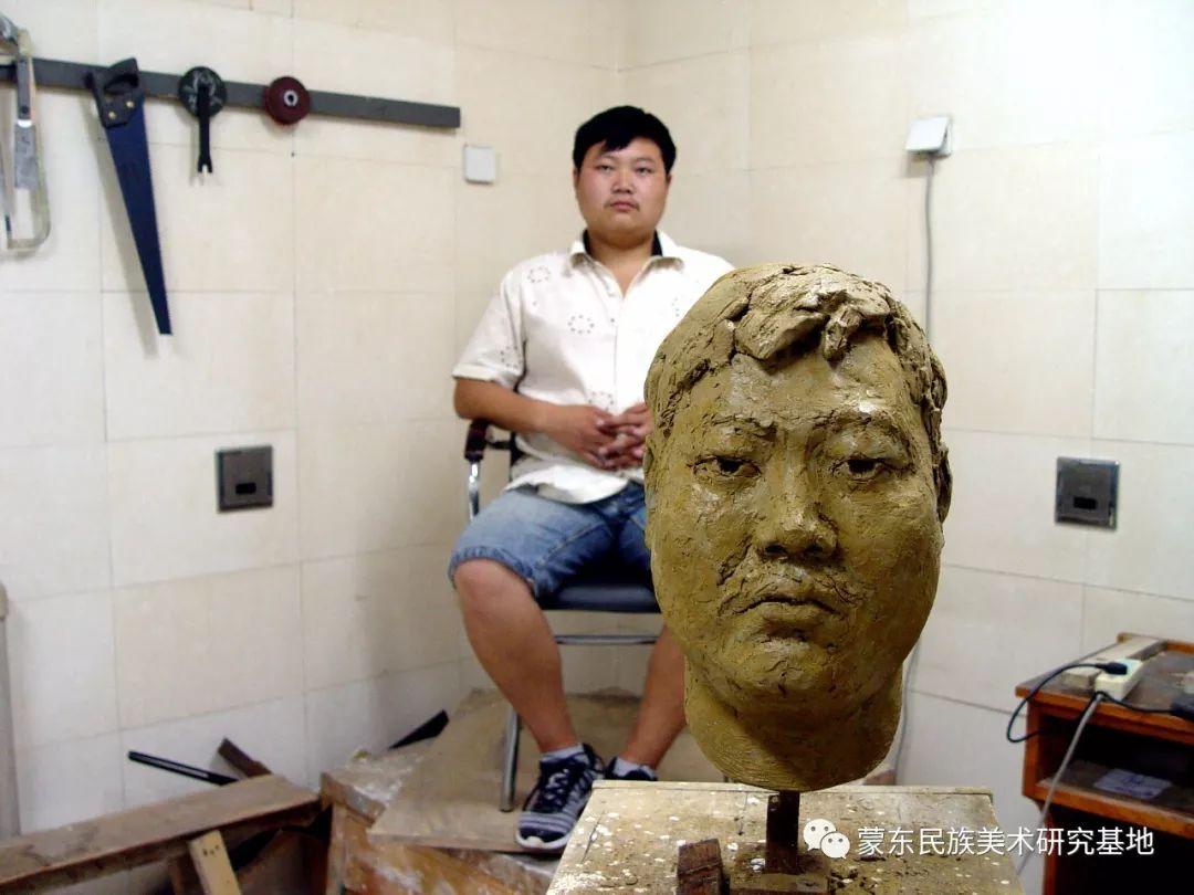 包格日乐吐作品——头像雕塑系列(二) 第10张 包格日乐吐作品——头像雕塑系列(二) 蒙古画廊
