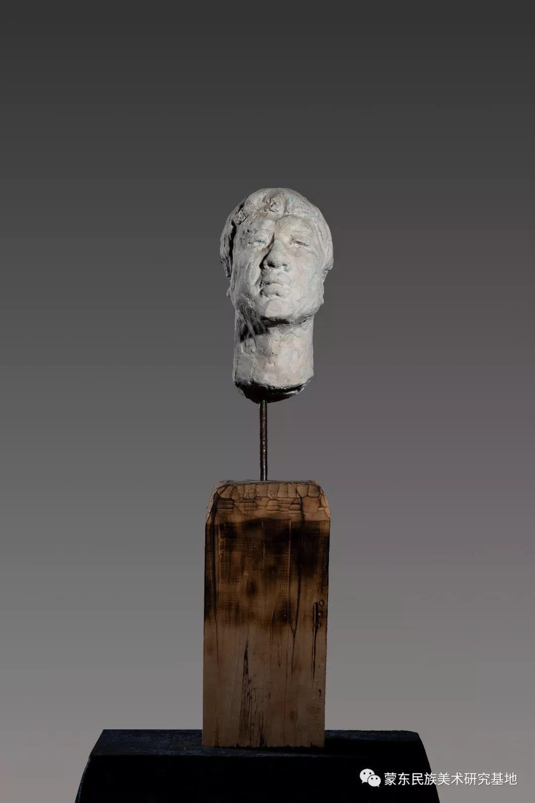 包格日乐吐作品——头像雕塑系列(二) 第13张 包格日乐吐作品——头像雕塑系列(二) 蒙古画廊