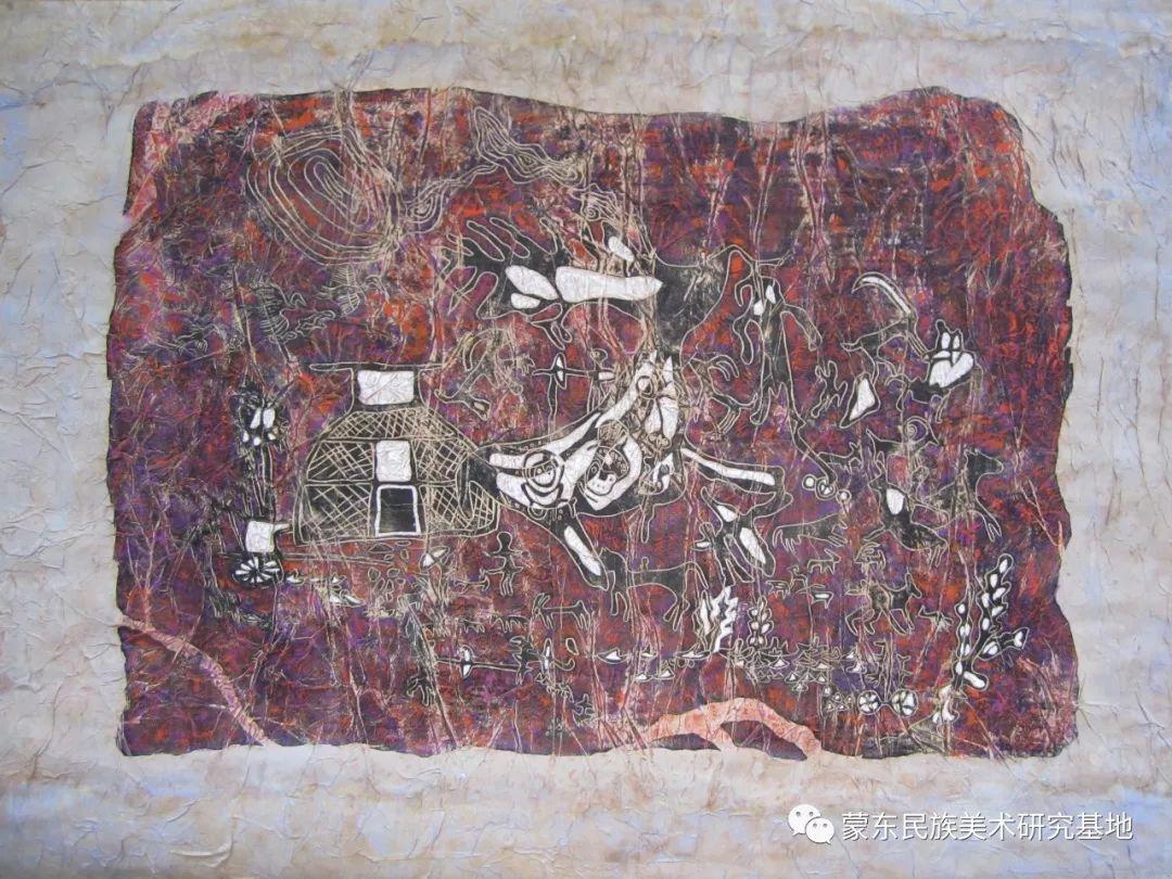 张琪版画作品——中国少数民族美术促进会,蒙东民族美术研究基地画家系列 第3张