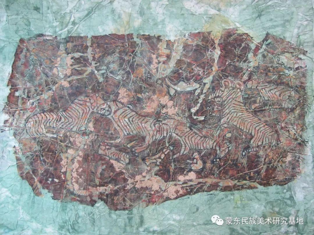 张琪版画作品——中国少数民族美术促进会,蒙东民族美术研究基地画家系列 第8张
