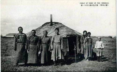 蒙古风俗  (民国日本明信片) 第7张