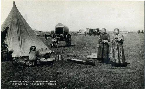 蒙古风俗  (民国日本明信片) 第10张
