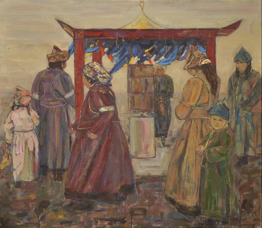 内蒙古草原油画院画家--王都一乐 第10张 内蒙古草原油画院画家--王都一乐 蒙古画廊