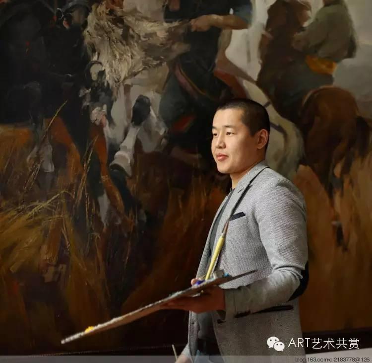 这位蒙古国画家的画风,相当彪悍 第1张