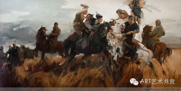 这位蒙古国画家的画风,相当彪悍 第2张 这位蒙古国画家的画风,相当彪悍 蒙古画廊