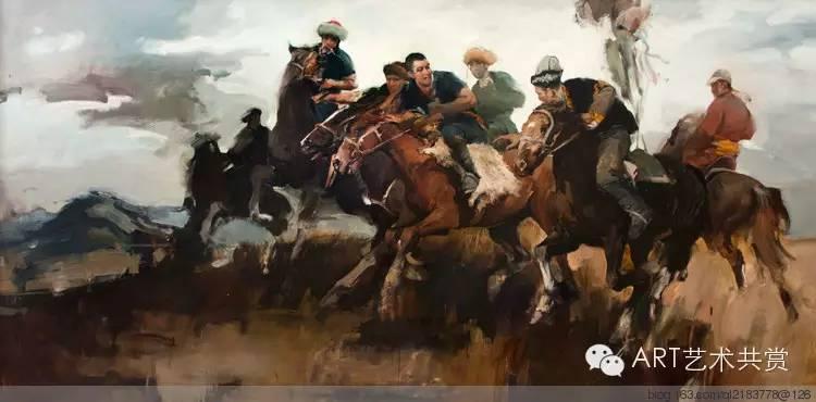 这位蒙古国画家的画风,相当彪悍 第3张 这位蒙古国画家的画风,相当彪悍 蒙古画廊