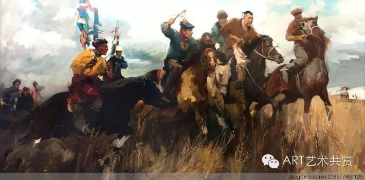 这位蒙古国画家的画风,相当彪悍 第4张