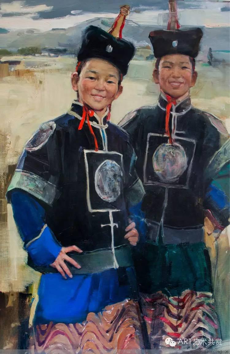 这位蒙古国画家的画风,相当彪悍 第6张 这位蒙古国画家的画风,相当彪悍 蒙古画廊