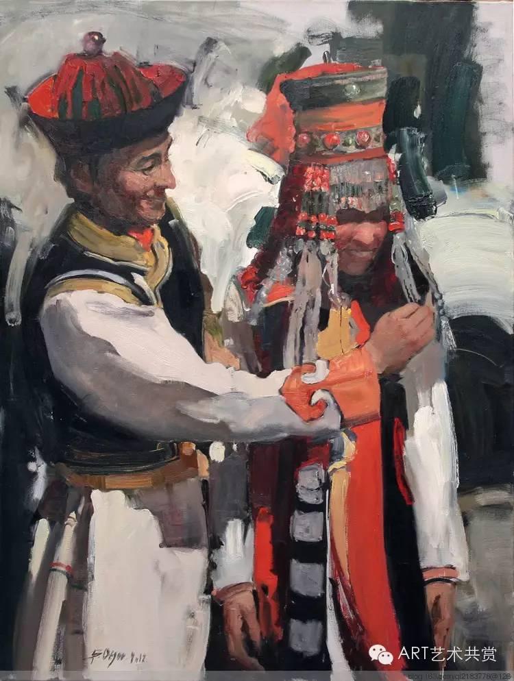 这位蒙古国画家的画风,相当彪悍 第10张