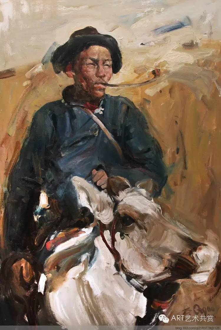这位蒙古国画家的画风,相当彪悍 第11张