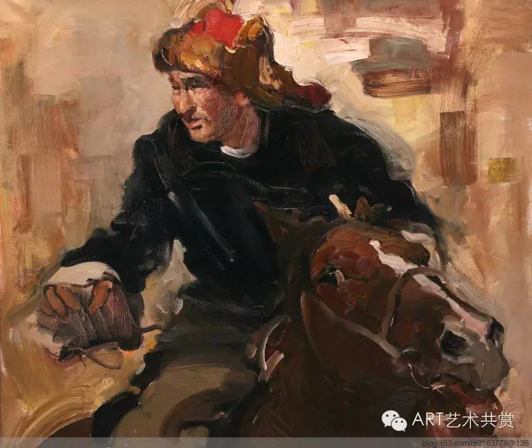 这位蒙古国画家的画风,相当彪悍 第15张