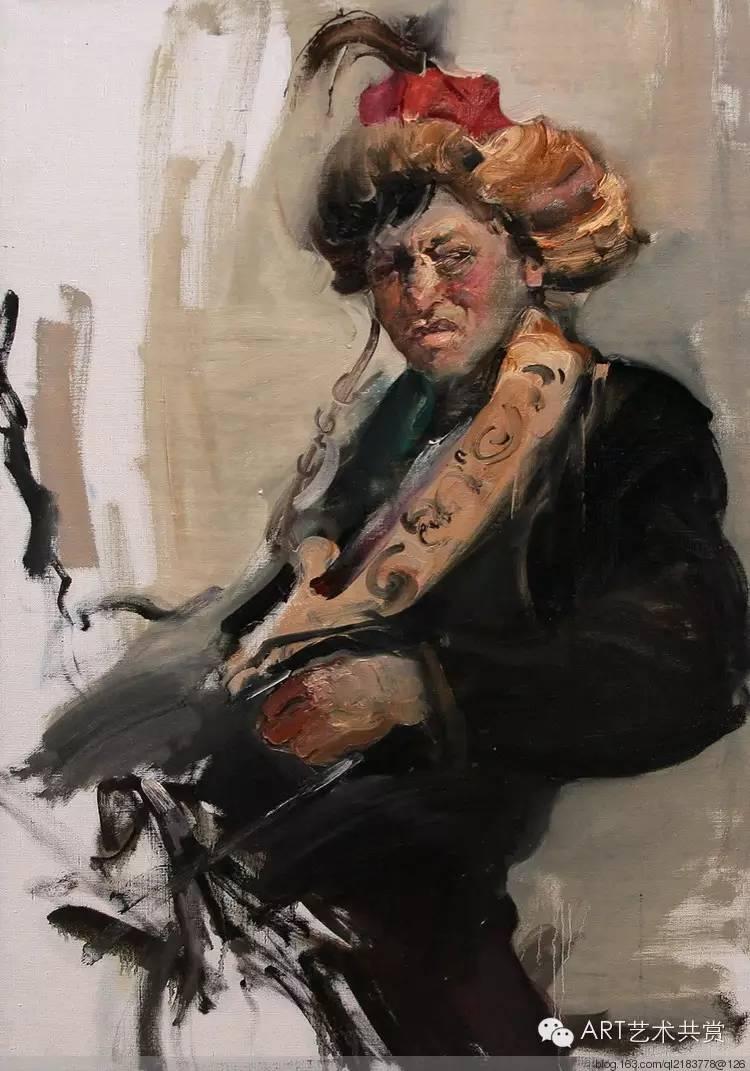 这位蒙古国画家的画风,相当彪悍 第14张