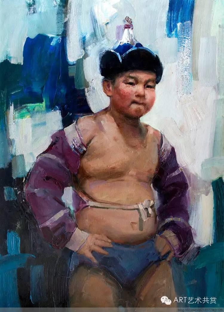 这位蒙古国画家的画风,相当彪悍 第20张