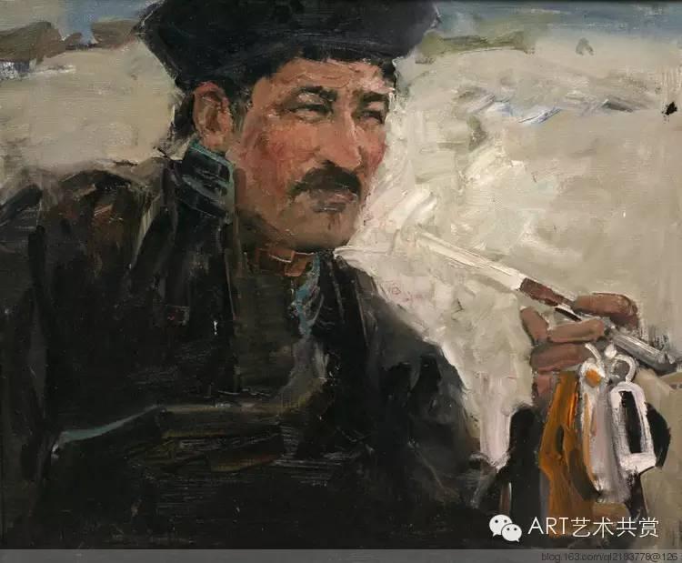 这位蒙古国画家的画风,相当彪悍 第18张