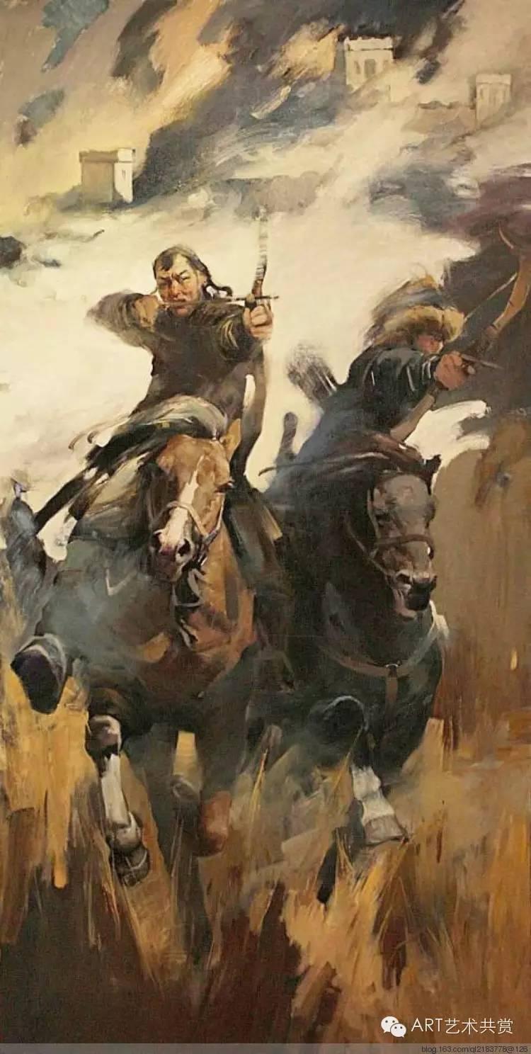 这位蒙古国画家的画风,相当彪悍 第24张 这位蒙古国画家的画风,相当彪悍 蒙古画廊