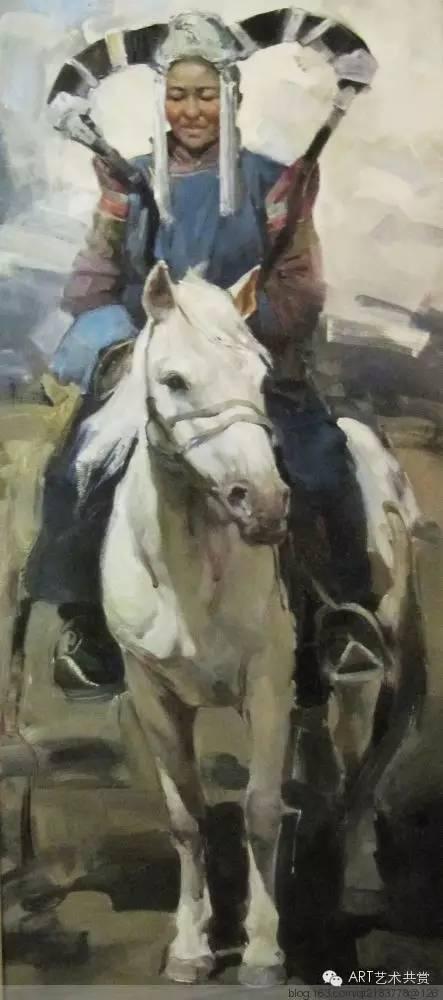 这位蒙古国画家的画风,相当彪悍 第26张 这位蒙古国画家的画风,相当彪悍 蒙古画廊