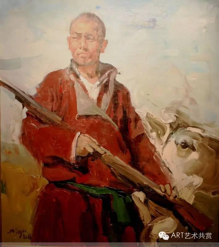 这位蒙古国画家的画风,相当彪悍 第31张