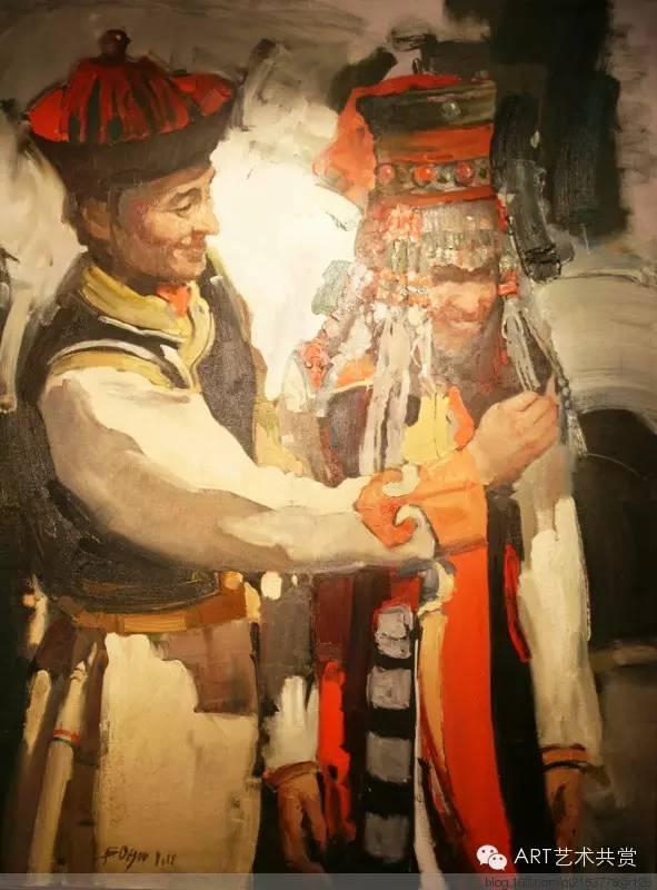 这位蒙古国画家的画风,相当彪悍 第33张