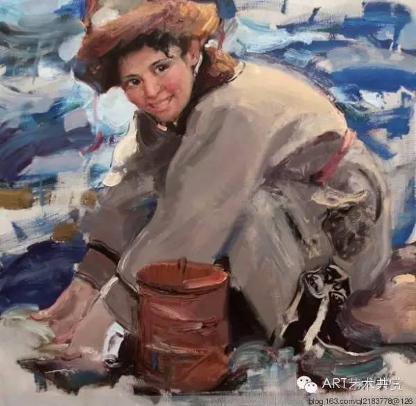 这位蒙古国画家的画风,相当彪悍 第43张