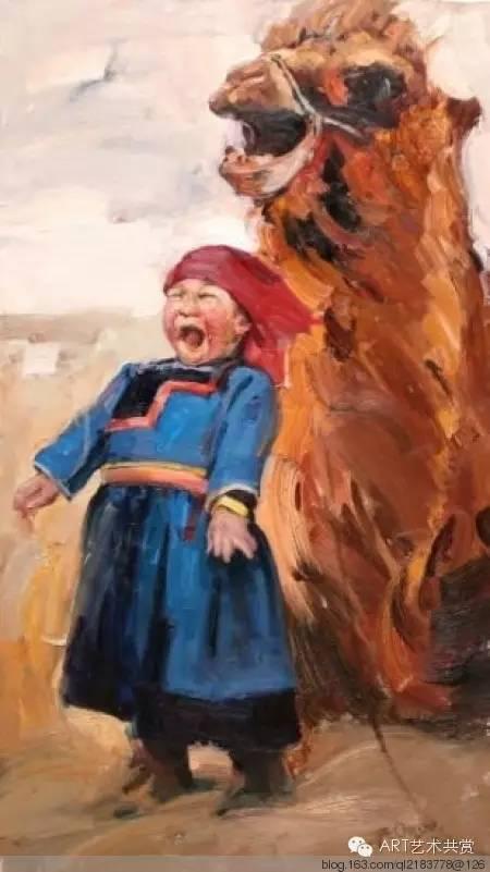 这位蒙古国画家的画风,相当彪悍 第42张