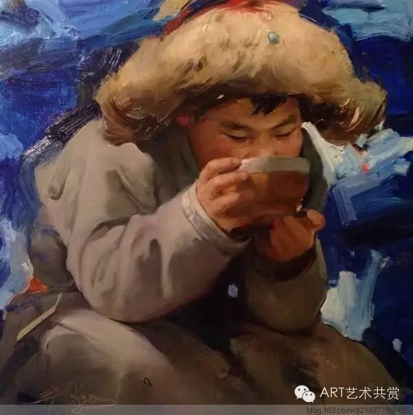 这位蒙古国画家的画风,相当彪悍 第47张