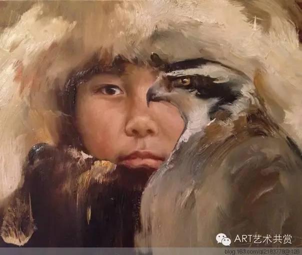 这位蒙古国画家的画风,相当彪悍 第48张