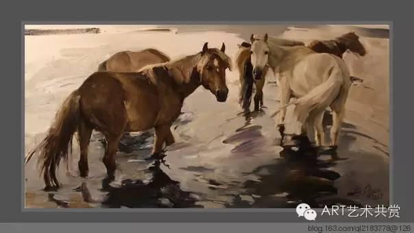 这位蒙古国画家的画风,相当彪悍 第53张