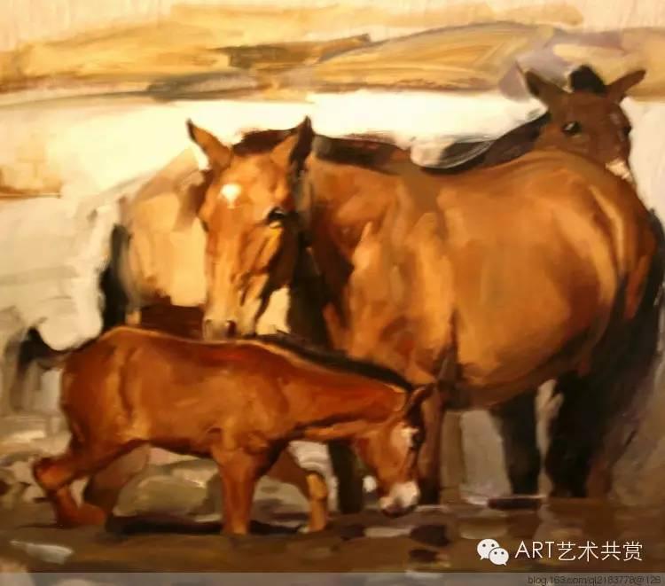 这位蒙古国画家的画风,相当彪悍 第54张