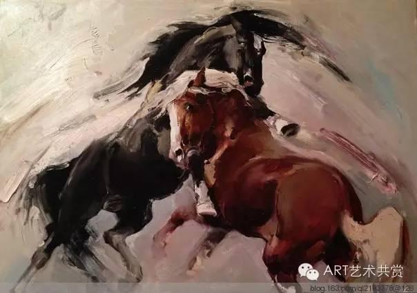 这位蒙古国画家的画风,相当彪悍 第52张