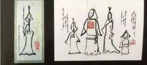"""蒙古国年轻画家展现文字艺术:  蒙古文字在他笔下""""活""""起来了 第6张"""