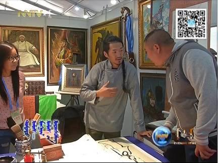 """蒙古国年轻画家展现文字艺术:  蒙古文字在他笔下""""活""""起来了 第13张"""