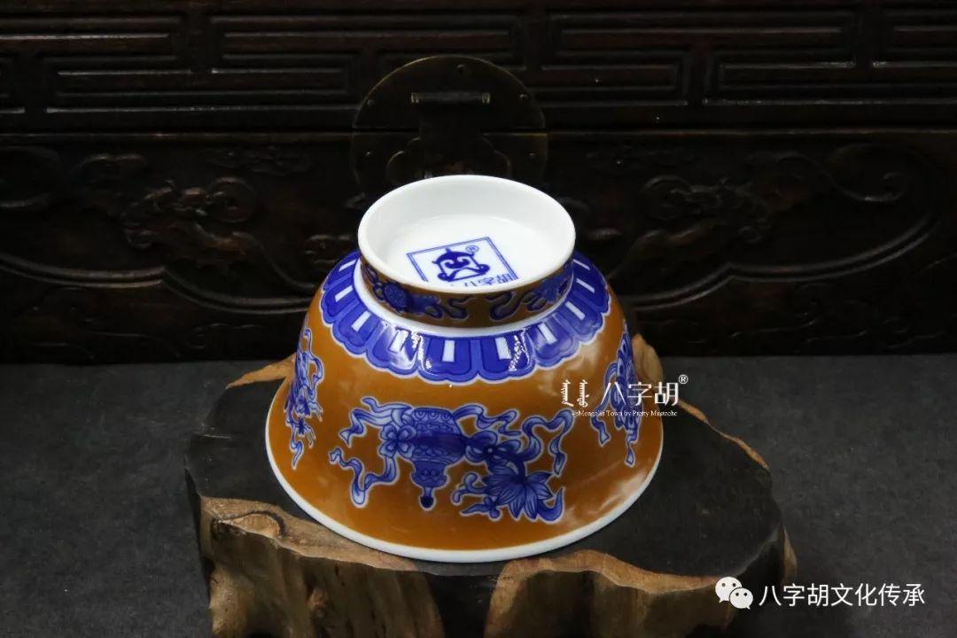 八字胡 传统式蒙古瓷碗系列 第4张 八字胡 传统式蒙古瓷碗系列 蒙古工艺