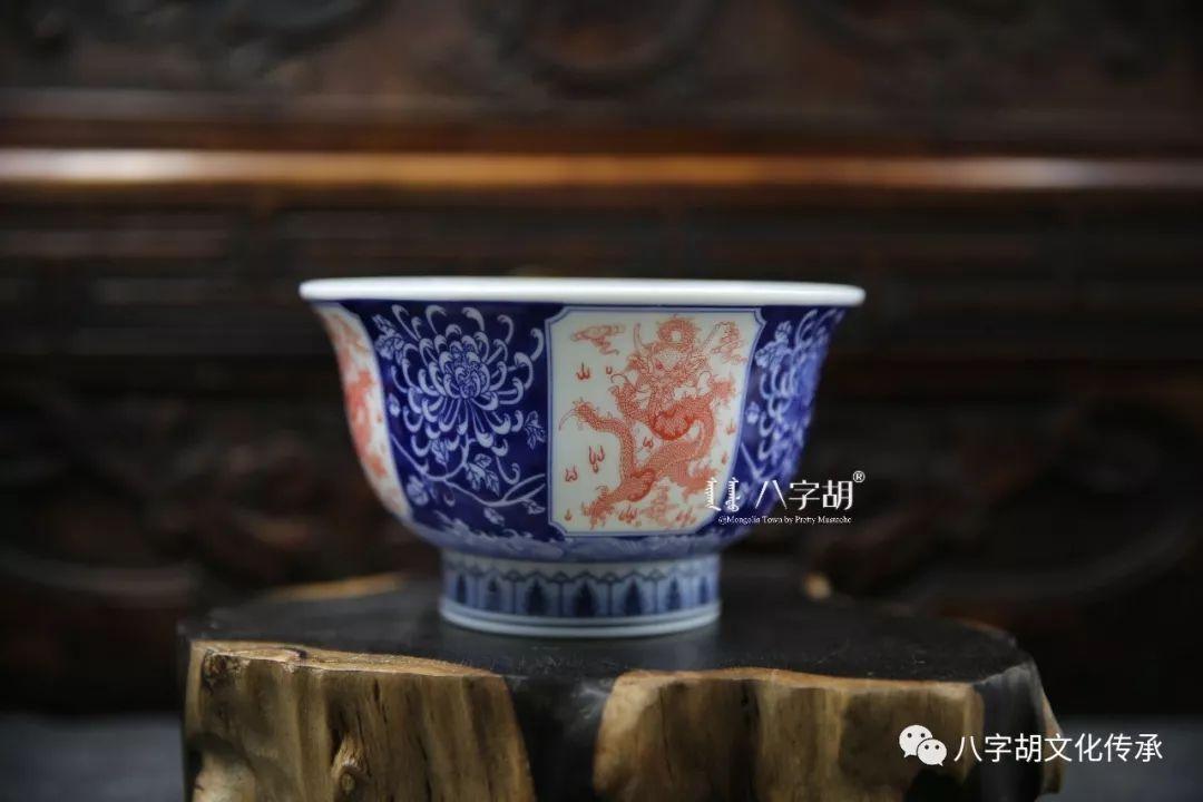 八字胡 传统式蒙古瓷碗系列 第10张 八字胡 传统式蒙古瓷碗系列 蒙古工艺