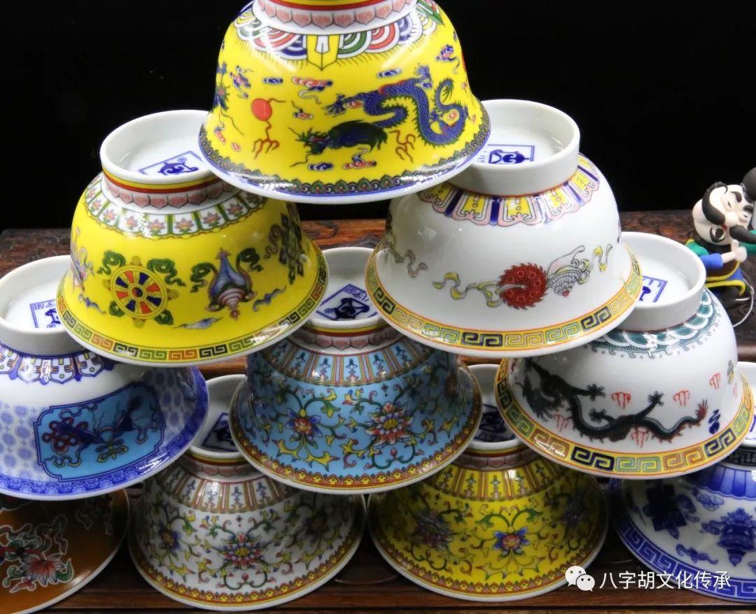八字胡 传统式蒙古瓷碗系列 第12张 八字胡 传统式蒙古瓷碗系列 蒙古工艺