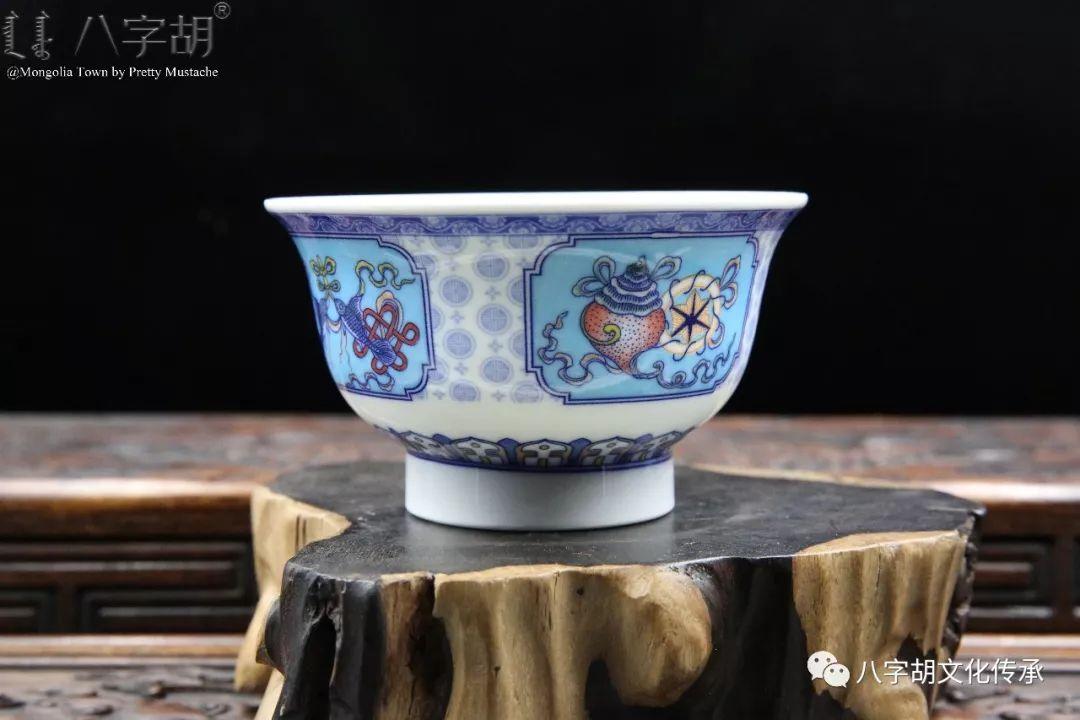 八字胡 传统式蒙古瓷碗系列 第19张 八字胡 传统式蒙古瓷碗系列 蒙古工艺