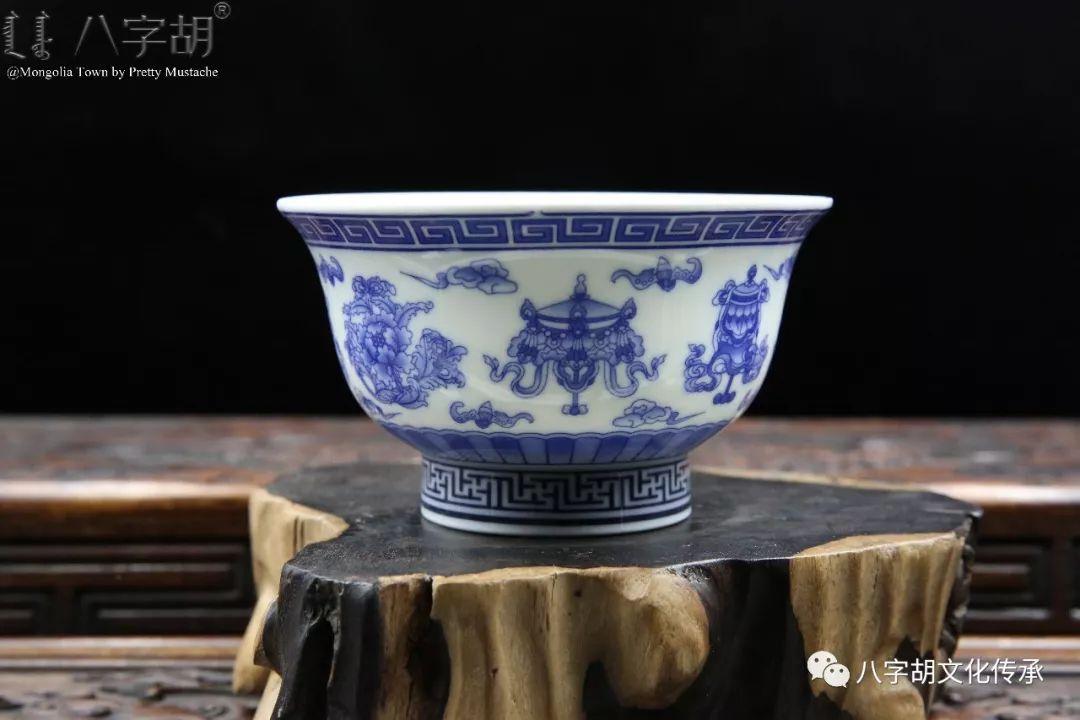 八字胡 传统式蒙古瓷碗系列 第22张 八字胡 传统式蒙古瓷碗系列 蒙古工艺