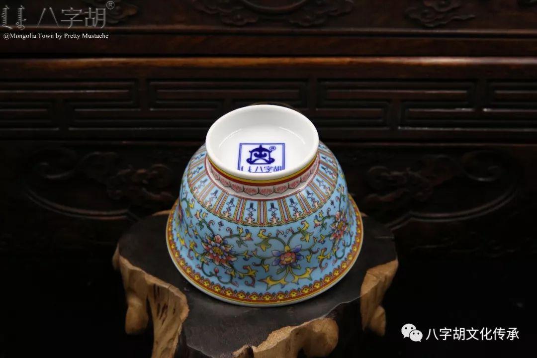 八字胡 传统式蒙古瓷碗系列 第31张 八字胡 传统式蒙古瓷碗系列 蒙古工艺