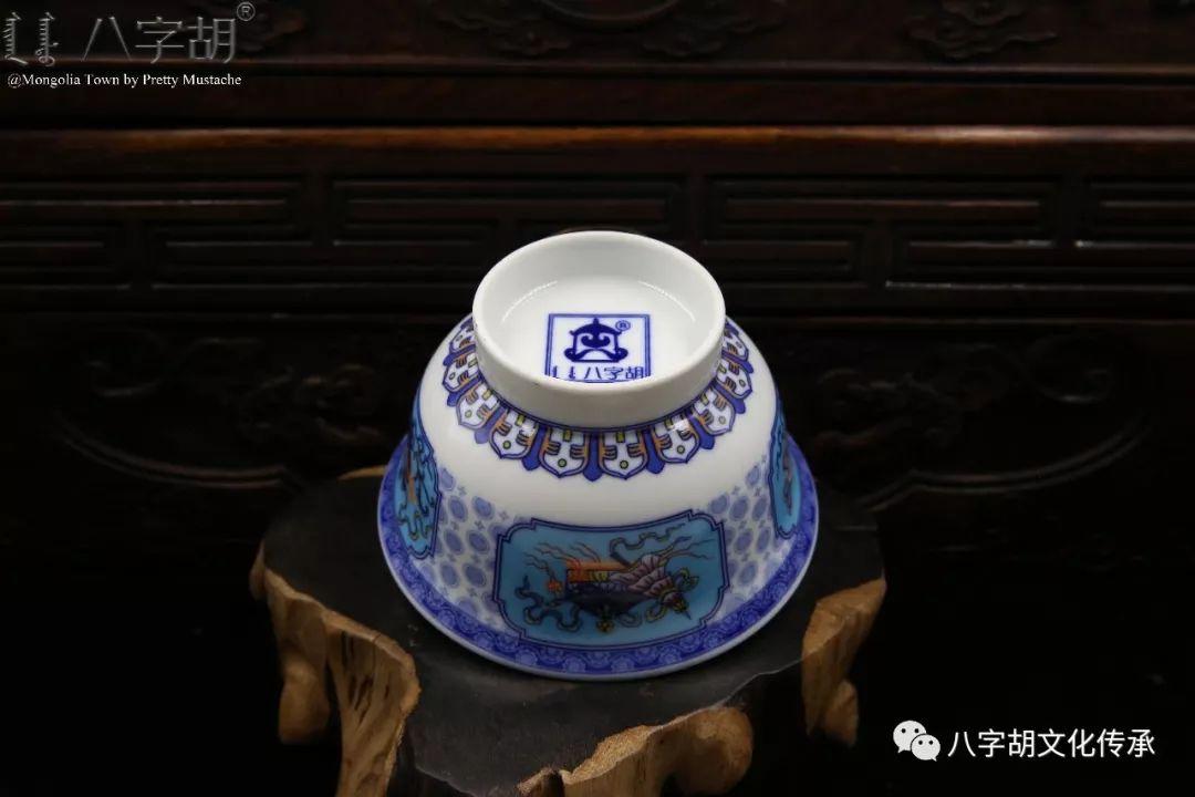 八字胡 传统式蒙古瓷碗系列 第32张 八字胡 传统式蒙古瓷碗系列 蒙古工艺