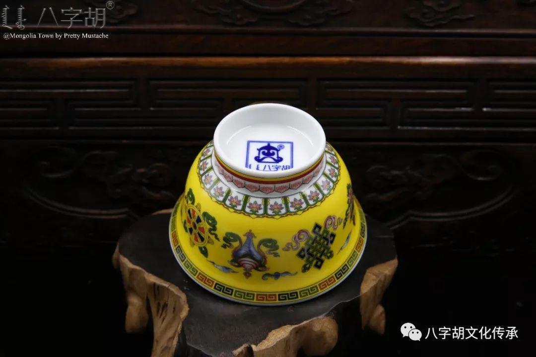 八字胡 传统式蒙古瓷碗系列 第34张 八字胡 传统式蒙古瓷碗系列 蒙古工艺