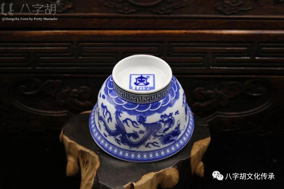 八字胡 传统式蒙古瓷碗系列 第35张 八字胡 传统式蒙古瓷碗系列 蒙古工艺