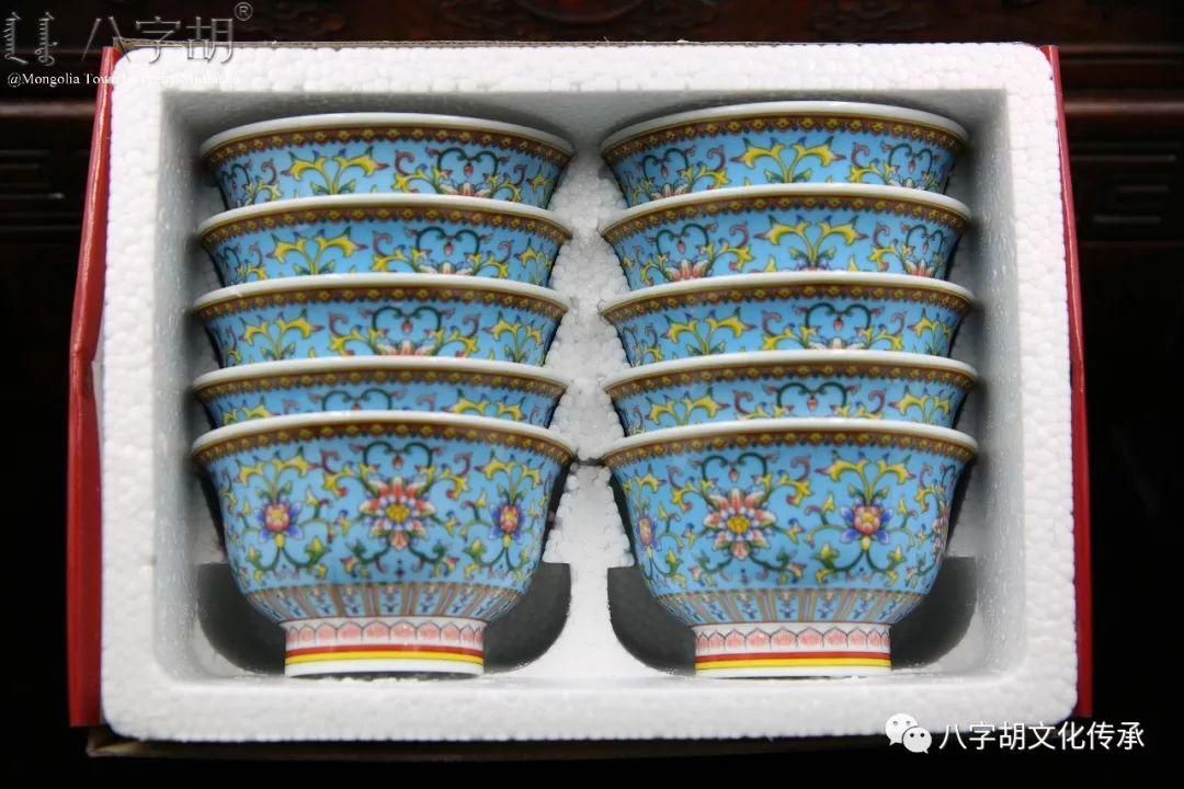 八字胡 传统式蒙古瓷碗系列 第52张 八字胡 传统式蒙古瓷碗系列 蒙古工艺