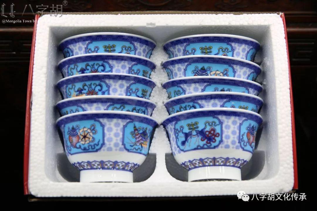 八字胡 传统式蒙古瓷碗系列 第61张 八字胡 传统式蒙古瓷碗系列 蒙古工艺