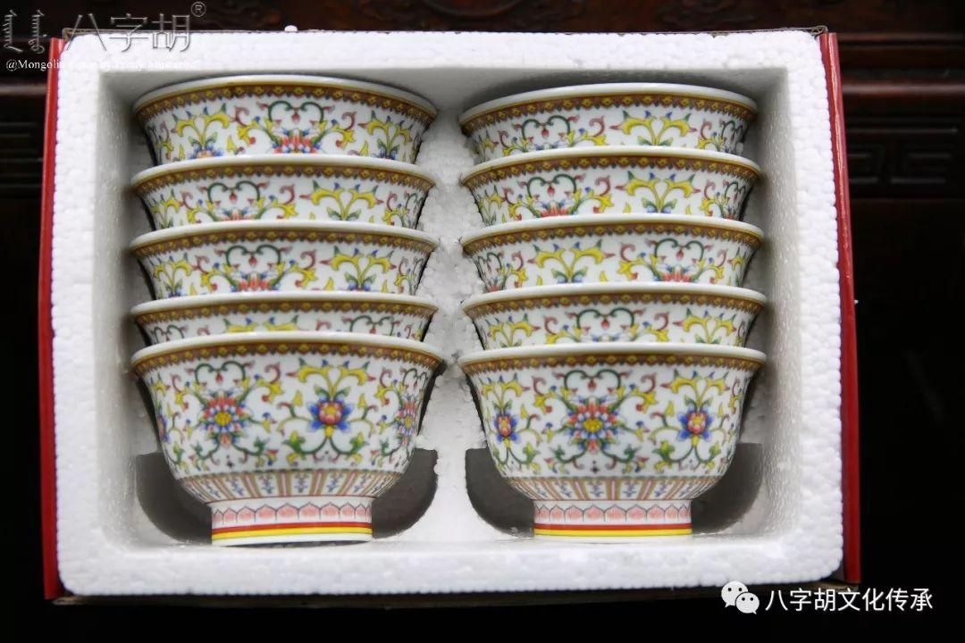 八字胡 传统式蒙古瓷碗系列 第64张 八字胡 传统式蒙古瓷碗系列 蒙古工艺