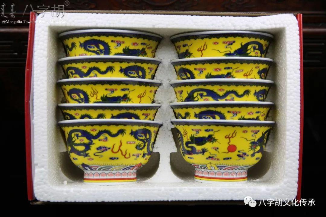 八字胡 传统式蒙古瓷碗系列 第69张 八字胡 传统式蒙古瓷碗系列 蒙古工艺