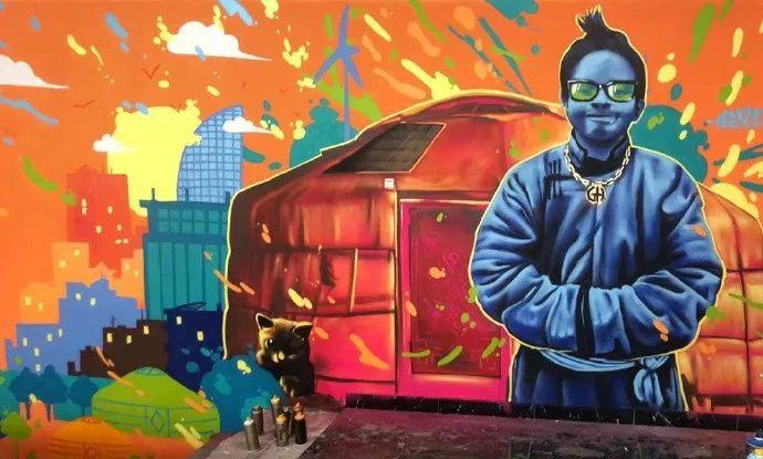 蒙古街头涂鸦艺术家heescco  第1张 蒙古街头涂鸦艺术家heescco  蒙古画廊