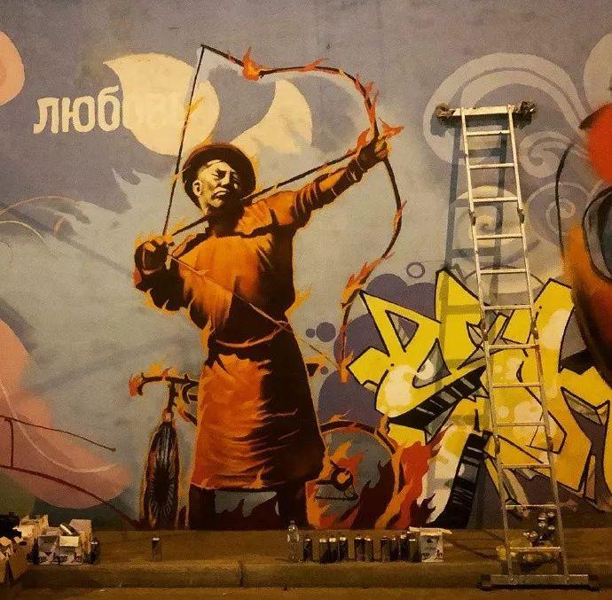 蒙古街头涂鸦艺术家heescco  第3张 蒙古街头涂鸦艺术家heescco  蒙古画廊