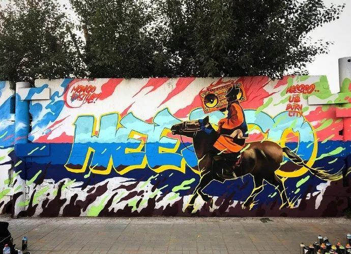 蒙古街头涂鸦艺术家heescco  第4张 蒙古街头涂鸦艺术家heescco  蒙古画廊